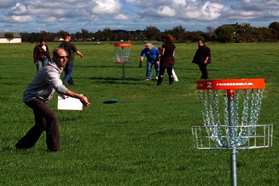 groepsuitje frisbee golf