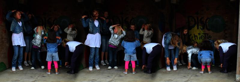Kinderfeestje boven Amsterdam