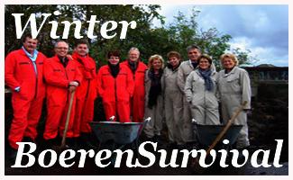 Groepsuitje survival winter boerderij NH